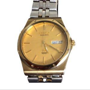 Vintage 42mm Seiko Men's Watch-works great!